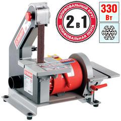 Станок шлифовальный, ЗУБР ЗШС-330, лента 762x25 мм, диск 125 мм, 2950 об/мин, 330 Вт