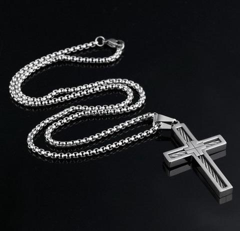 Крест мужской Steelman 94995 с цепочкой