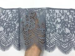 Кружево реснички серое с блестящим напылением (23х145 см)