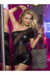 Клубное платье с открытым плечом
