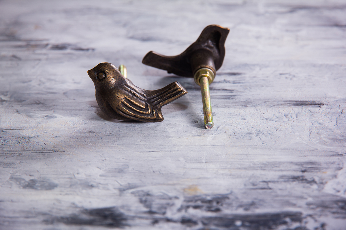 Ручка мебельная металлическая - птичка-невеличка, арт. 000808