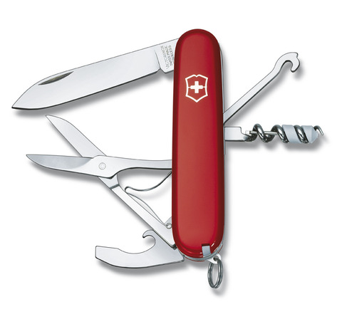 Нож Victorinox Compact, 91 мм, 15 функций, красный