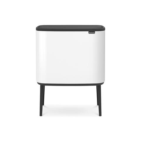 Мусорный бак Touch Bin Bo (3 х 11 л), Белый, арт. 313523 - фото 1
