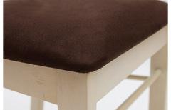 Стул NAPOLEON с мягким сиденьем собранный — коричневый