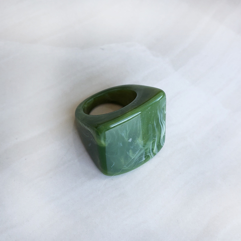Кольцо Малахит, зеленый цвет