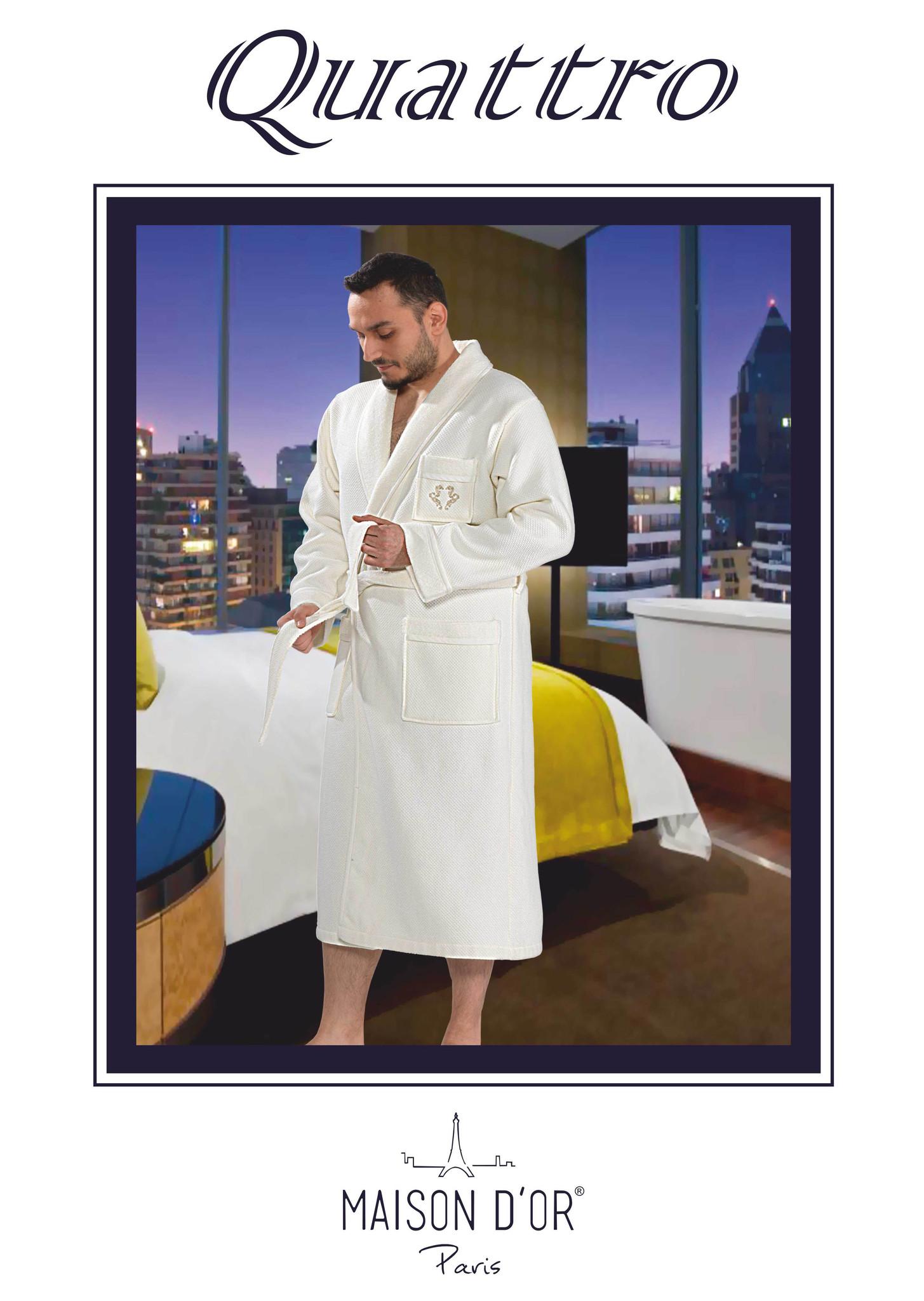 Халаты мужские QUATTRO  КУАТТРО махровый халат  Maison Dor Турция Quatro-K.jpg