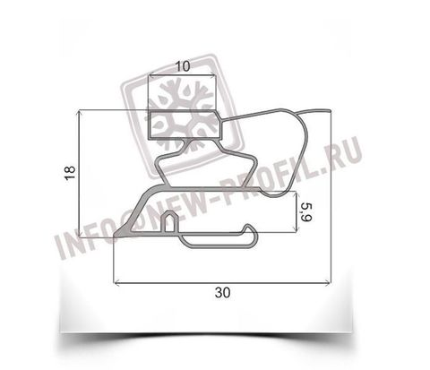 Уплотнитель 52*57 см для холодильника Samsung SRF-V29 (морозильная камера) Профиль 015
