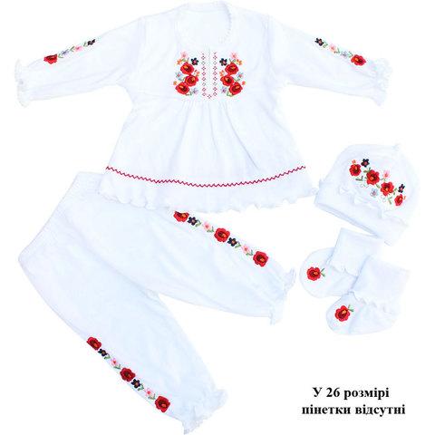 Комплект для хрещення КД4-1 дівчинці