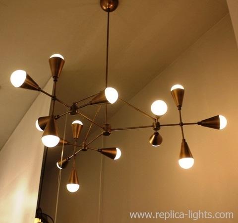 LUCIDE 15 lights chandelier ( brass) by Art - metal