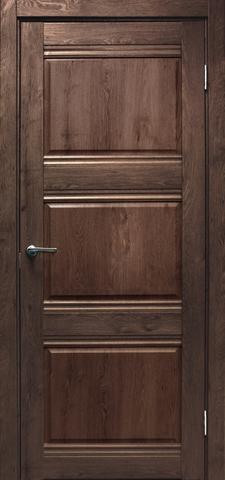 Дверь Эколайт Дорс Альфа, цвет дуб шоколадный, глухая