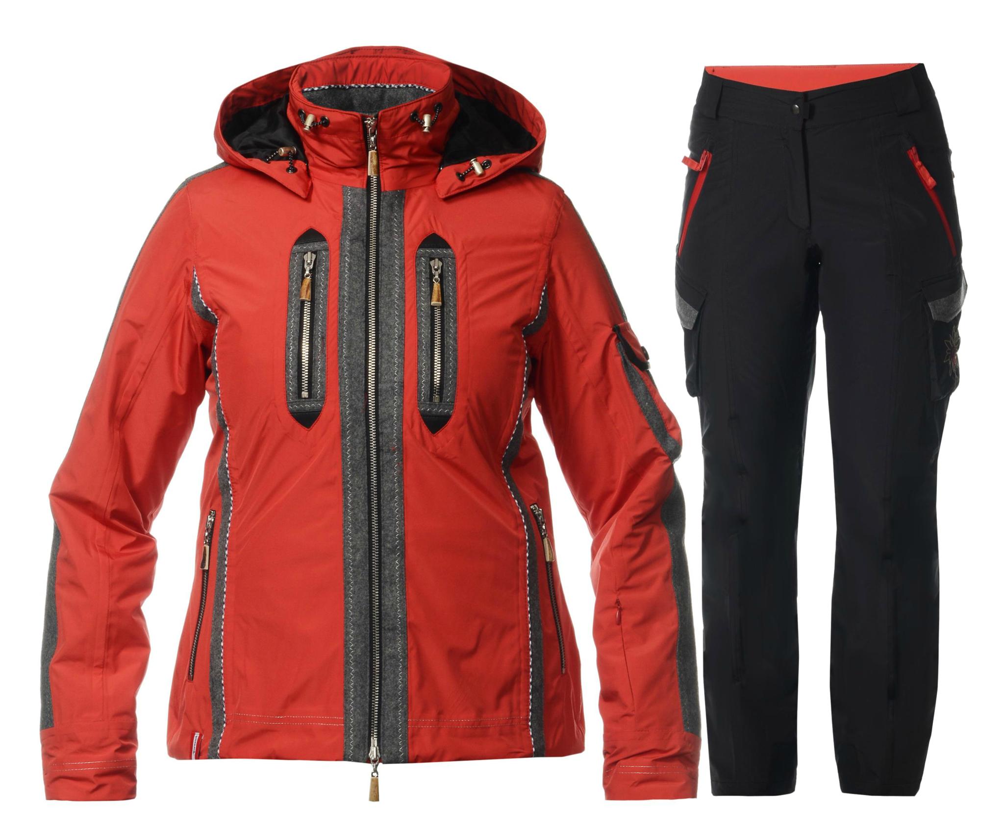 Женский горнолыжный костюм Almrausch Manning-Hochegg красный