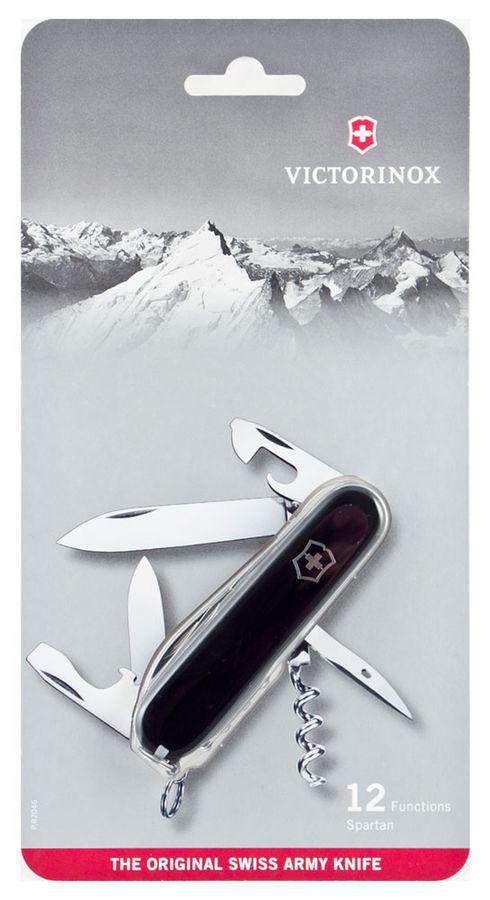 Нож Victorinox Spartan, 91мм, 12 функций, черный
