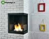 Угловой биокамин Lux Fire в интерьере