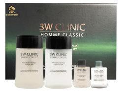 3W Clinic Набор для ухода за мужской кожей Увлажнение и свежесть Homme Classic Moisturizing Freshness Essentia 2 Items Set