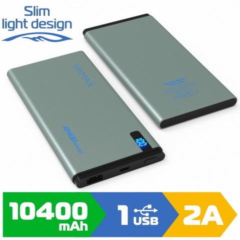 Power Bank Vamax VMX-LCD1822, дисплей, 1xUSB, 10400mAh, grey