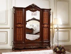 Шкаф 4-дверный с зерк-ми Аманда (FF6095 MK-2711-DN) Темный орех