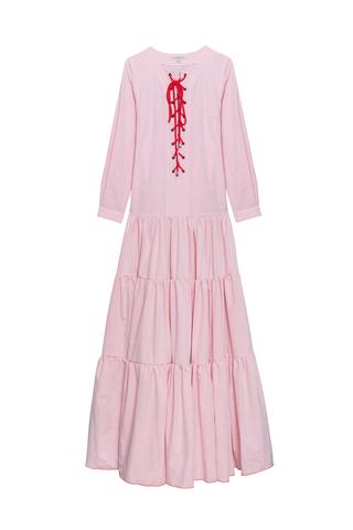 Платье ПРИБОЙ с длинным рукавом_grey