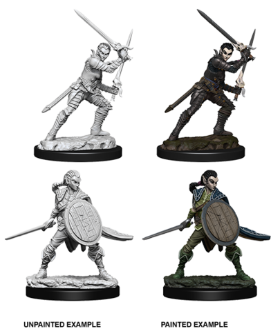 Pathfinder Battles Deep Cuts Unpainted Miniatures - Female Elf Fighter
