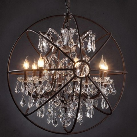 Подвесная люстра Loft it Foucaults orb crystal LOFT1897/6