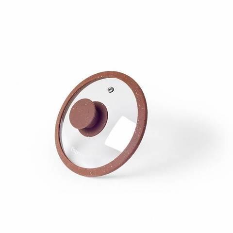 Крышка ARCADES 16см с силиконовым ободком, цвет КОРИЧНЕВЫЙ (стекло),  купить
