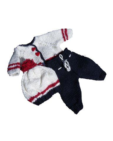 Вязаный комплект - Синий / белый. Одежда для кукол, пупсов и мягких игрушек.