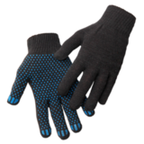 Перчатки трикотажные ПВХ Точка 10 кл 4х нитка (черный)