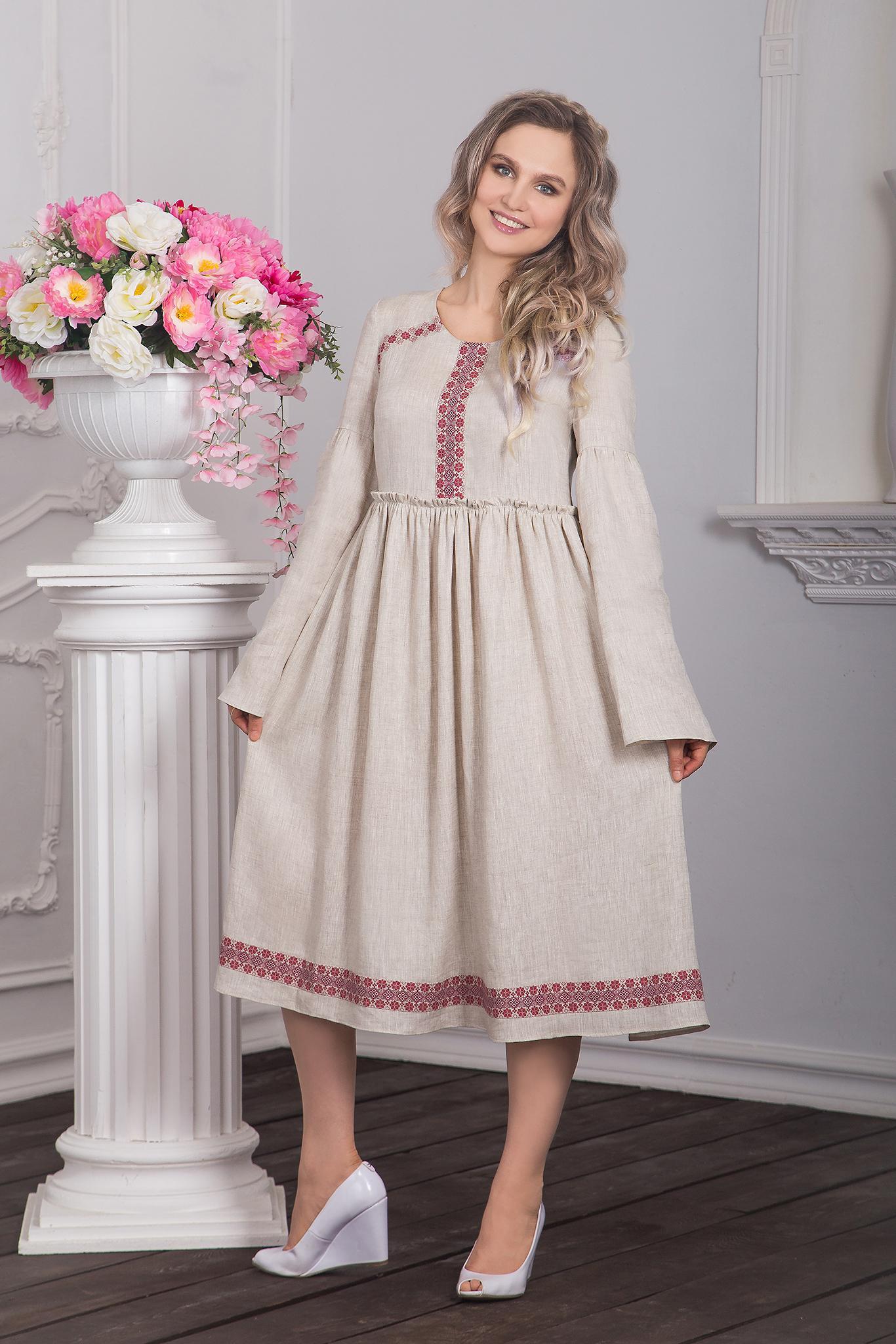 Платье в русском стиле Капитанская дочка фото