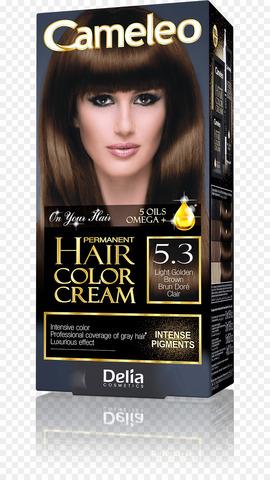 Delia Cosmetics Cameleo Крем-краска для волос тон 5.3 светло-золотистый коричневый