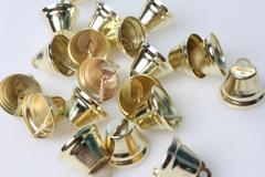 Колокольчики золото d=2,6см  (20шт в уп)