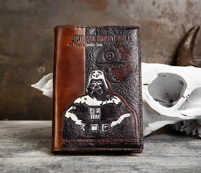 BC201 Ежедневник ручной работы изображением Дарта Вейдера (A5)