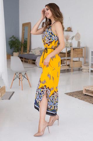 Длинное платье сарафан MIA-MIA  Sole Viva 16368