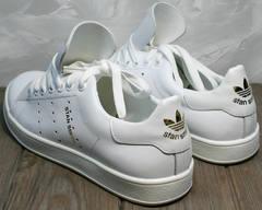 Кеды женские натуральная кожа Adidas Stan Smith White-R A14w15wg