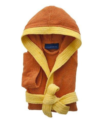 Элитный халат детский махровый Young оранжевый от Caleffi