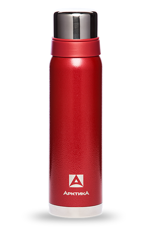 Термос Арктика (0,9 л.) с узким горлом американский дизайн, красный