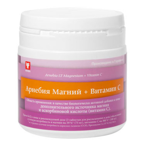 Арнебия Магний + Витамин С (60 таблеток) до 08.2019