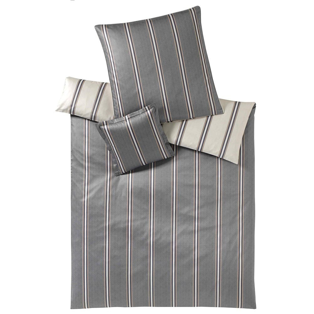 Постельное белье 2 спальное Elegante Cascade серое