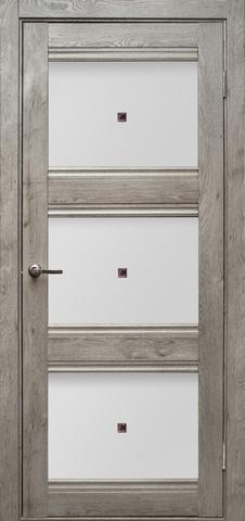 Дверь Эколайт Дорс Альфа, цвет дуб дымчатый, остекленная