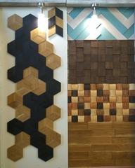 Декоративная  деревянная панель HarleyWood  PIXEL волна