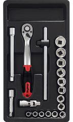 Набор инструмента в ложементе AmPro (19 предметов) T45240
