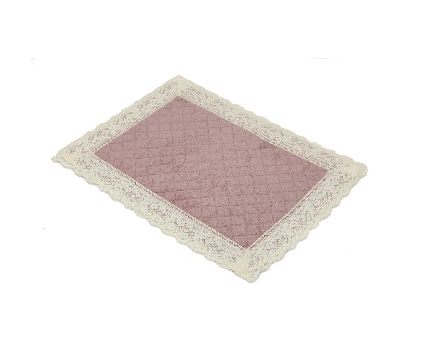 Коврики для ванной Коврик для ванной 50х70 Old Florence Валансье розовый elitnyy-kovrik-dlya-vannoy-valansie-rozovyy-ot-old-florence-italiya-vid.jpg