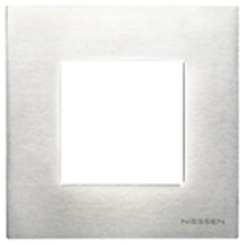 Рамка на 1 пост. Цвет Натуральная сталь. ABB(АББ). Niessen Zenit(Ниссен Зенит). N2271 OX