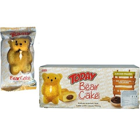 'Today Bear Cake with cocoa filing 45GR (5х18)  Кекс с какао начинкой 1кор*18бл*5шт,45гр