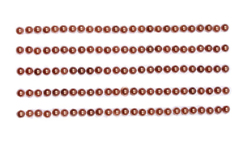 Клеевые полужемчужинки одноцветные 125 шт, 4 мм.