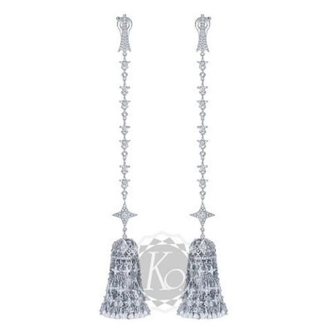 Серьги-кисти Tassel  из серебра в стиле Ko Jewelry 4638