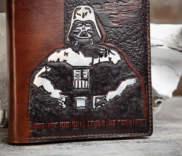 BC201 Ежедневник ручной работы изображением Дарта Вейдера (A5) фото 06