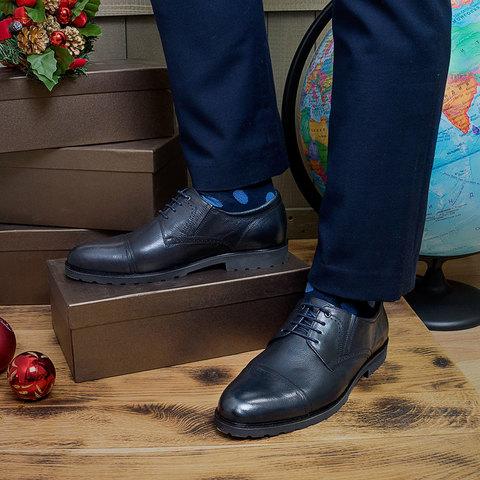Туфли с синими брюками