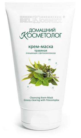BelKosmex Домашний косметолог Крем-маска травяная очищающая 100г