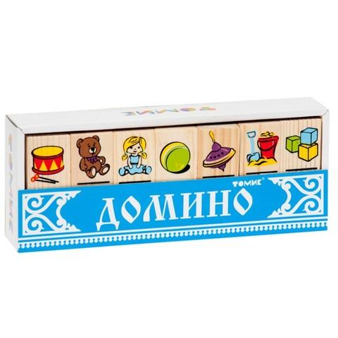 Домино деревянное Игрушки, Томик, арт. 5555-3
