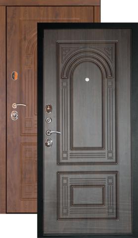Тёплая дверь входная Дверной континент Флоренция, 2 замка, 1,5 мм  металл, орех мокко
