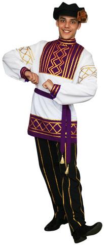 Русский народный костюм Олег фиолетовый